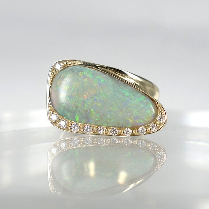 Image of Contemporary design opal ring