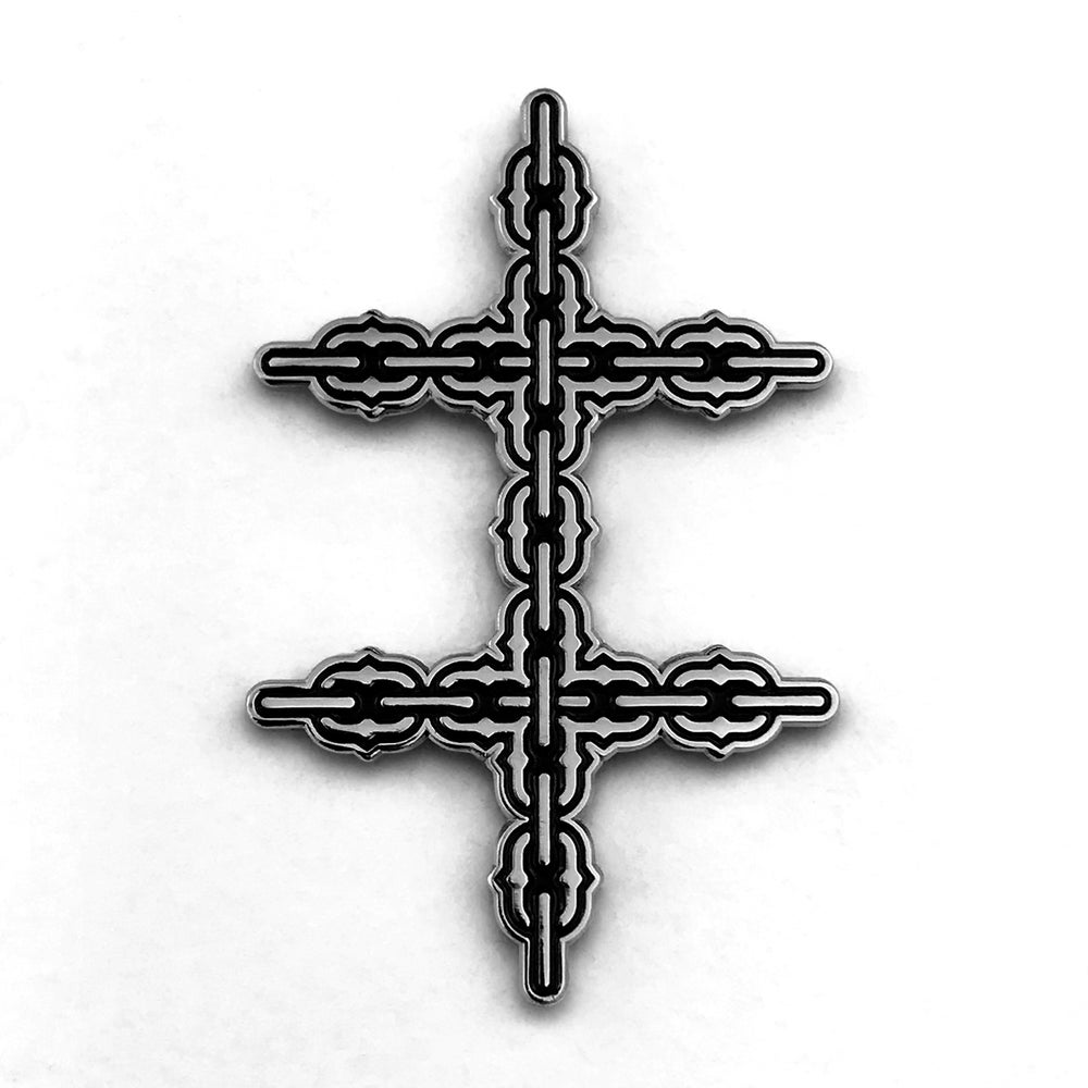 Image of Conjoined Cross Chain Pin