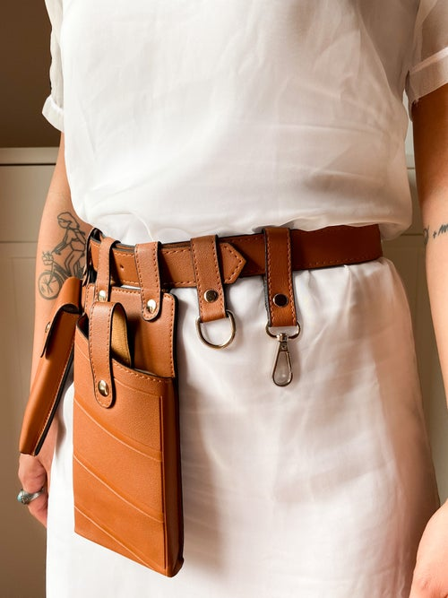 Image of STYLING BELT TABACCO