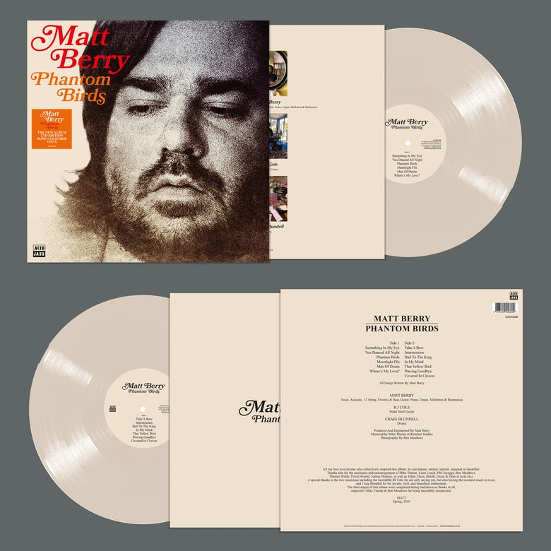 Image of Matt Berry - Phantom Birds (Signed Limited Edition Bone Coloured Vinyl) Pre-Order
