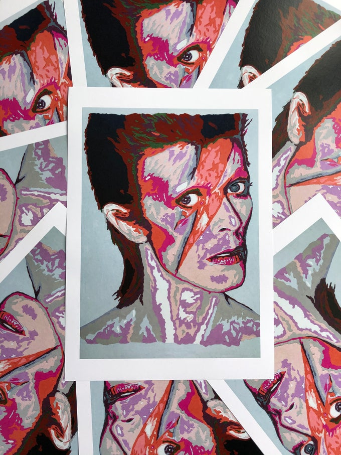 Image of David Bowie A3/A4 Limited Edition Print