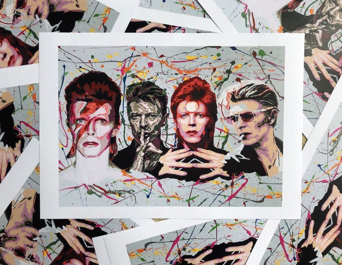 Image of David Bowie Fourfold A3/A4 Limited Edition Print