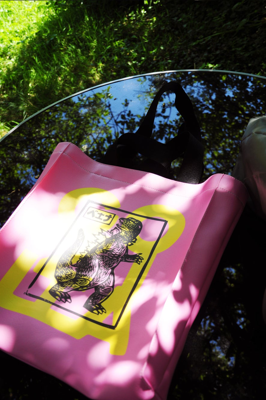 Image of TOTE GOZILLA PINK