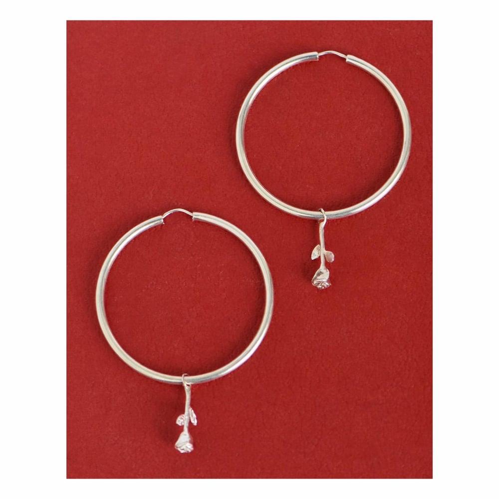 Image of Rose Hoop earrings