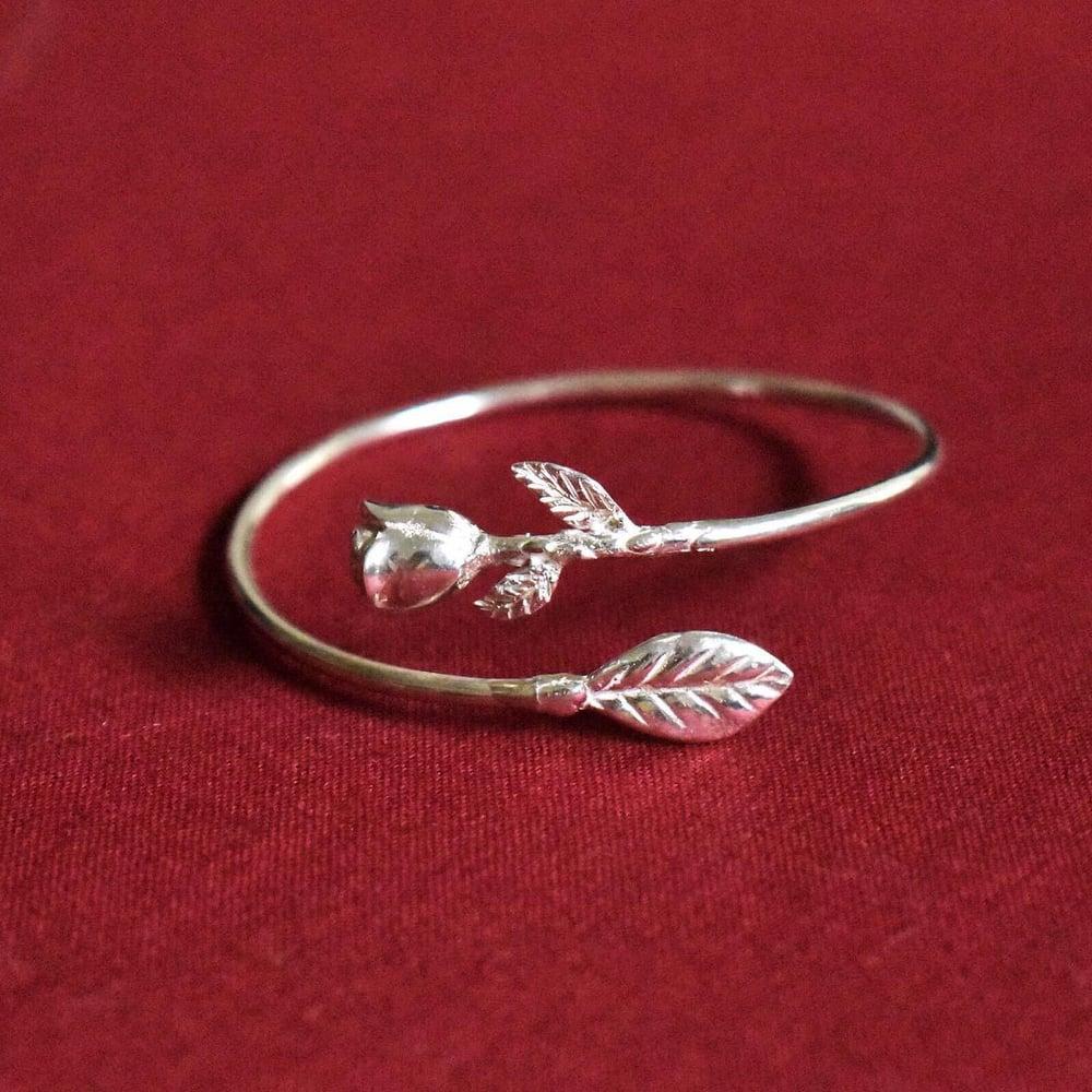 Image of Rosa silver cuff bracelet