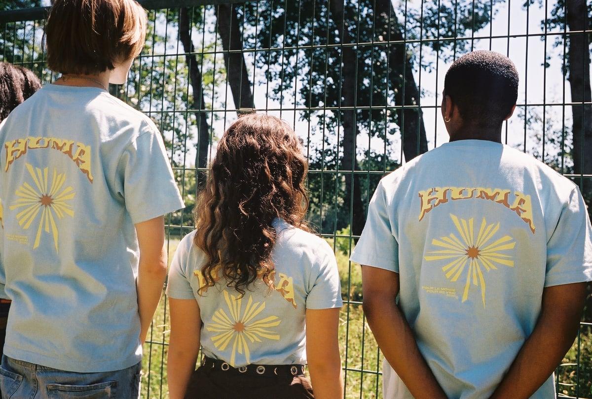 "Image of  T-shirt ""everybody loves the sunshine"" Bleu ciel"