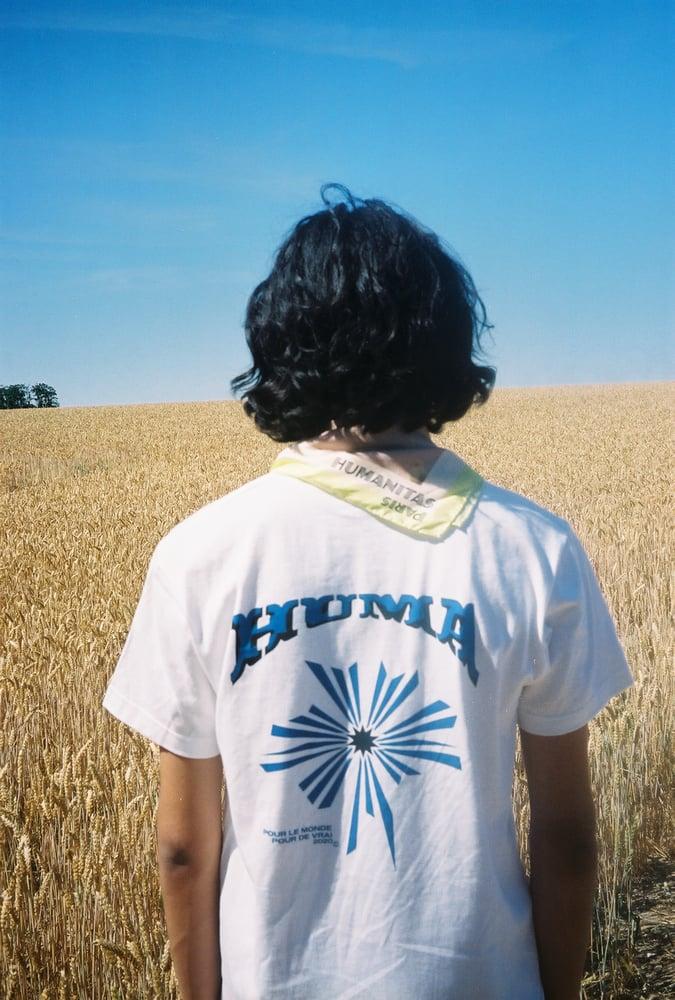 "Image of T-shirt ""everybody loves the sunshine"" Blanc"
