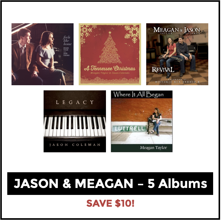 Image of The Jason & Meagan Collection - 5 CD Bundle (Save $10!)