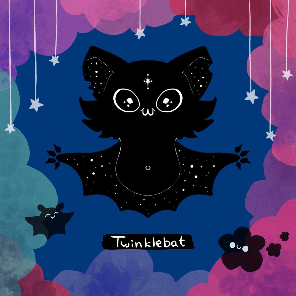 Twinkle Bat Holo Sticker