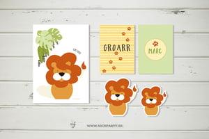 Image of Pack imprimible fiesta león