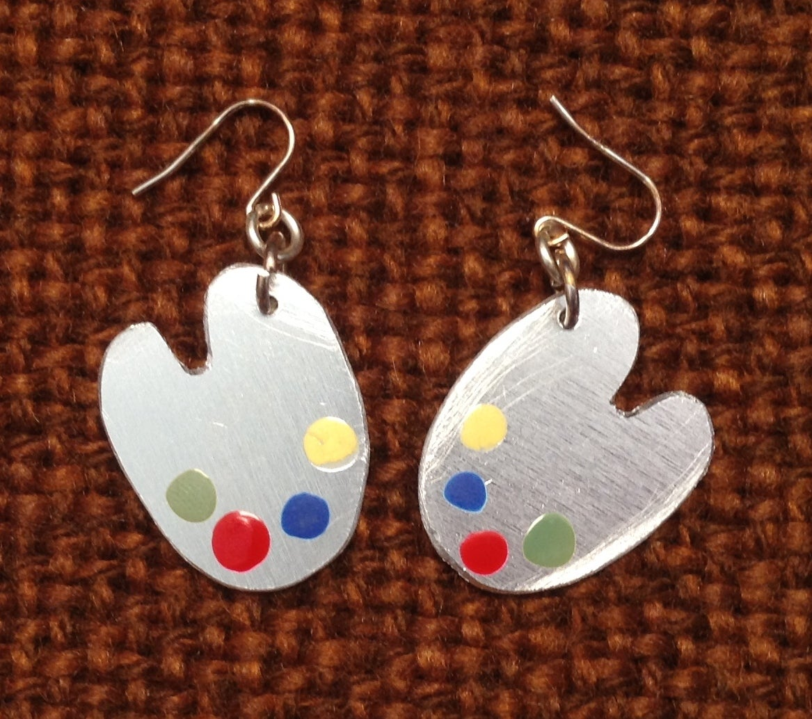 Image of Paint Palette Ear rings.