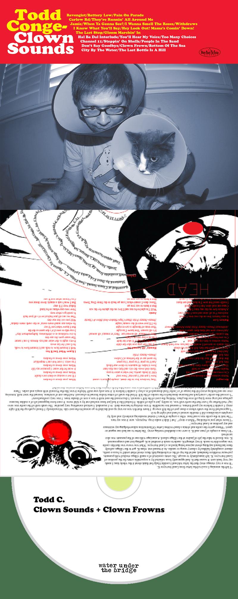 TODD CONGELLIERE - Clown Sounds + Clown Frowns → cd