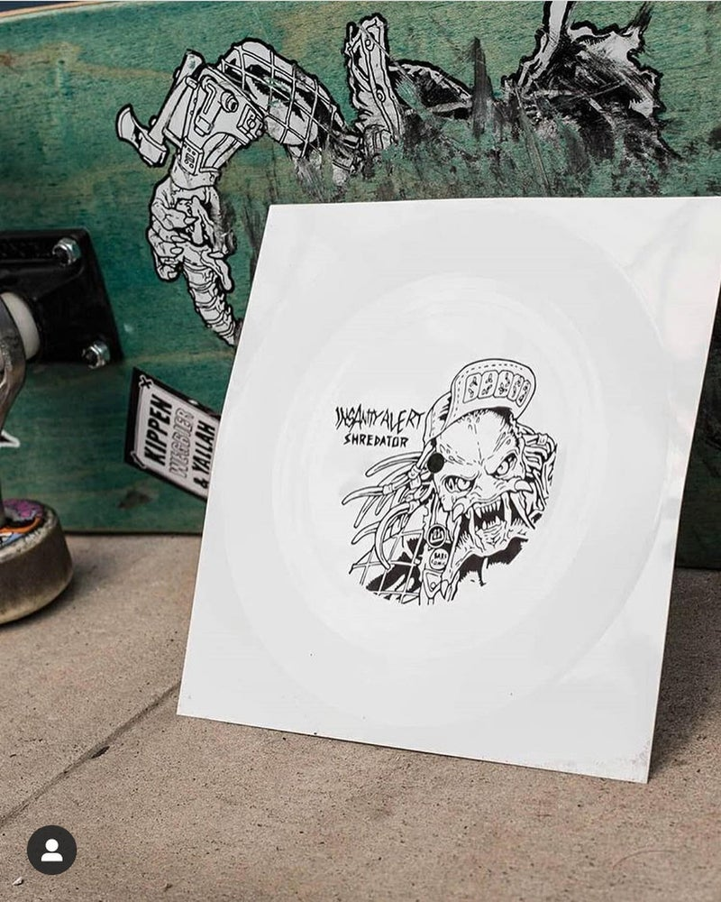 Image of NEW! Insanity Alert - 'Shredator' flexi disc