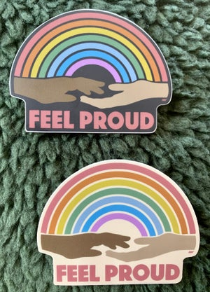 Image of FEEL PROUD STICKER 2 PACK