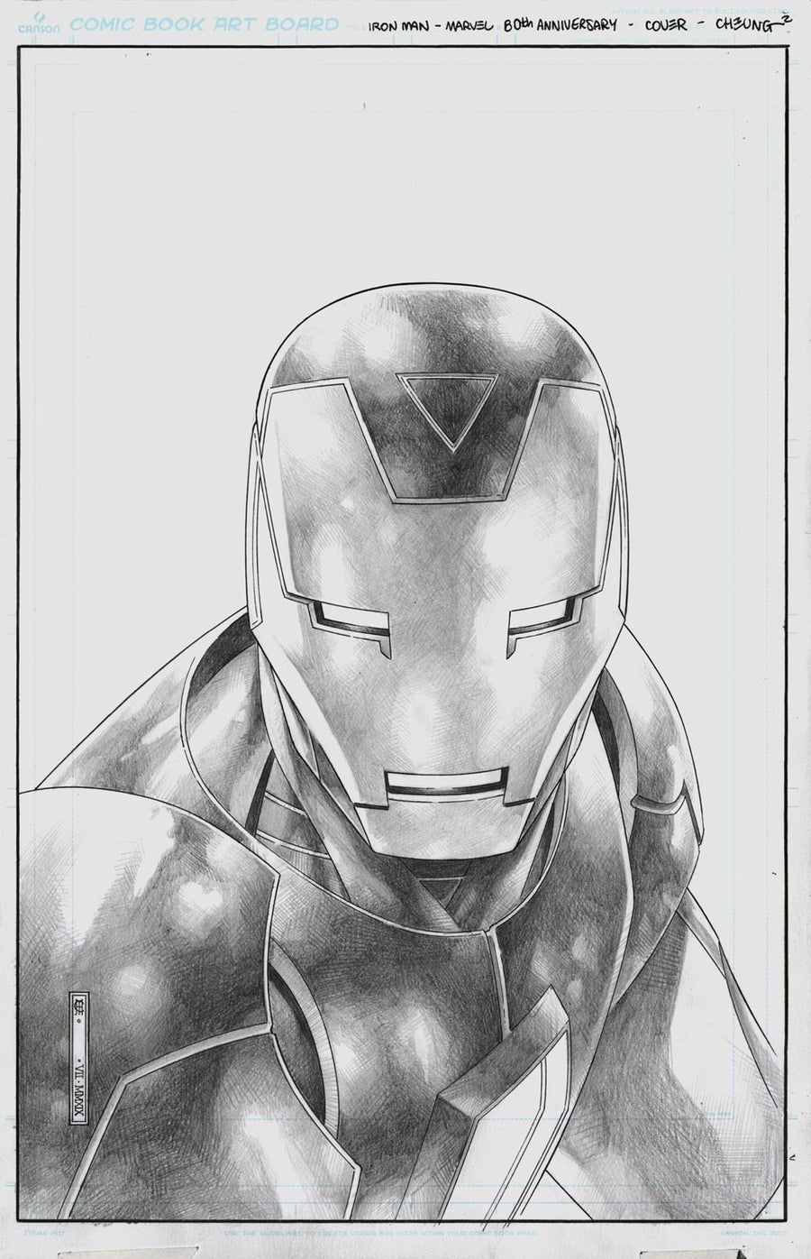 Image of TONY STARK: IRON MAN #15 (80th ANNIVERSARY FRAME) Cover - ON HOLD