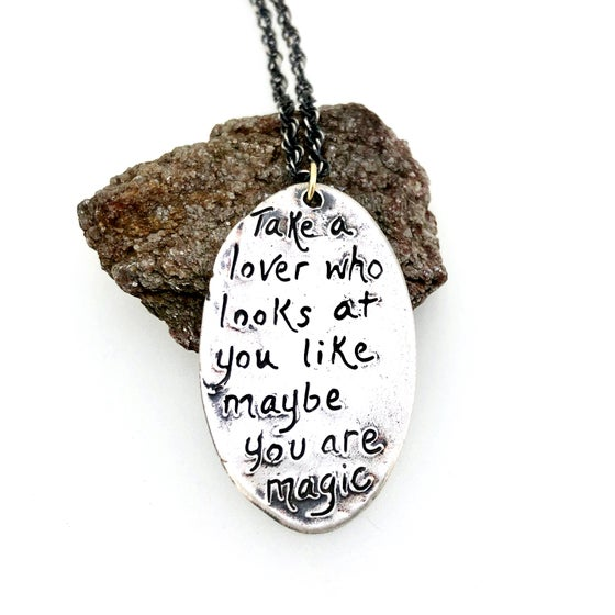 Image of Frida Kahlo quote necklace