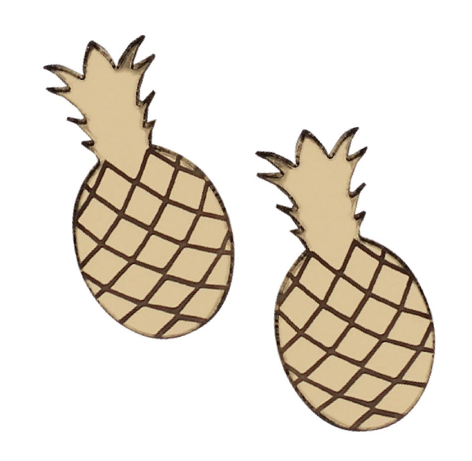 Image of Pineapple Stud Earrings