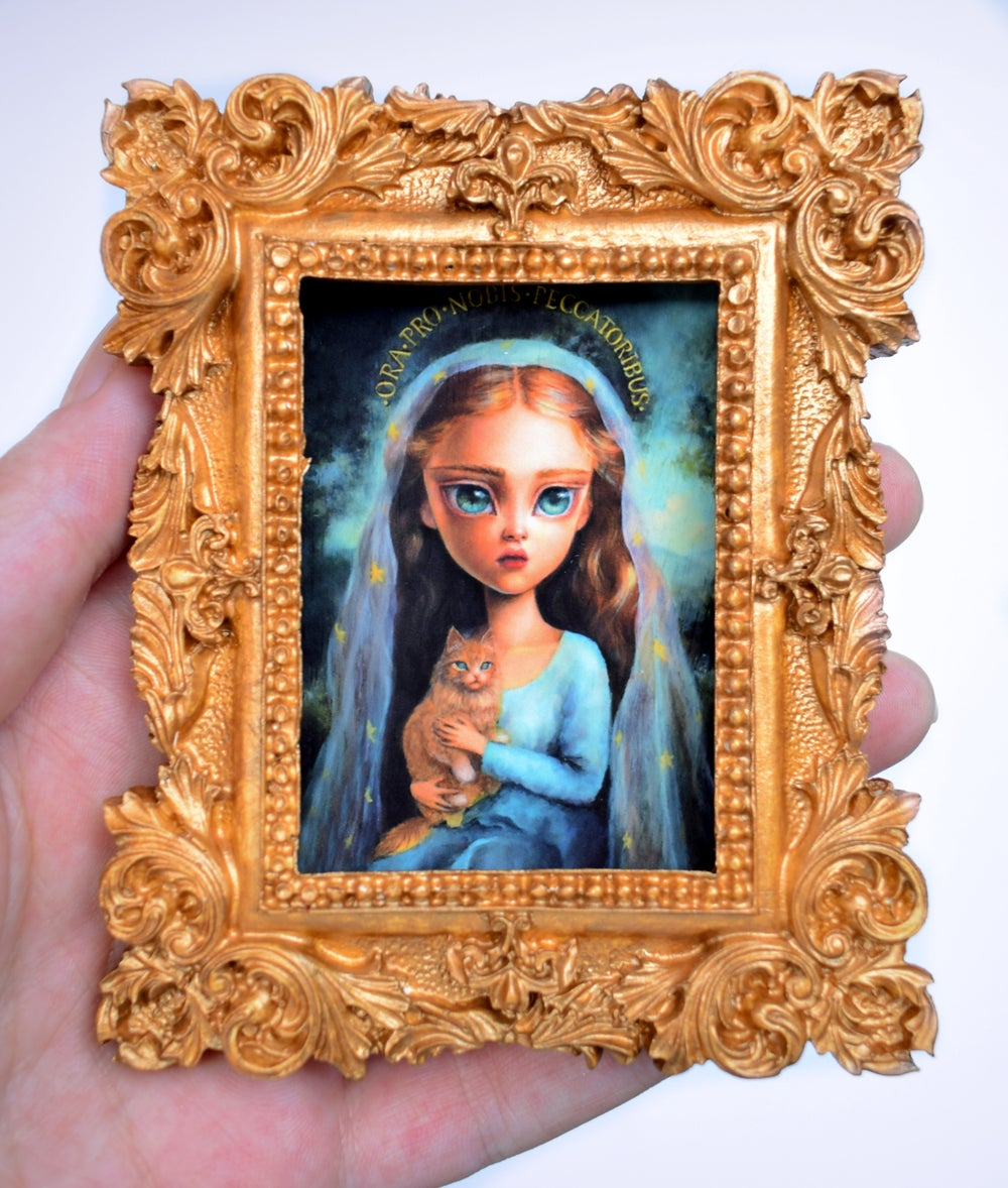 "Image of Miniature framed print ""Ora Pro Nobis"""