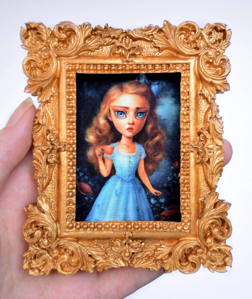 """Image of Miniature framed print """"The Eternal Tea Party"""""""