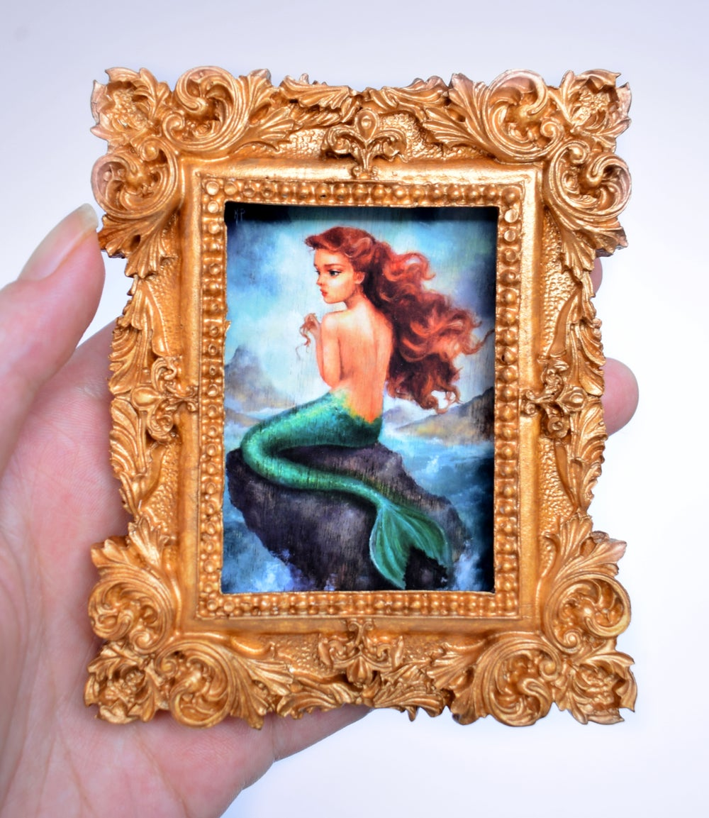 "Image of Miniature framed print ""The Tempest"""