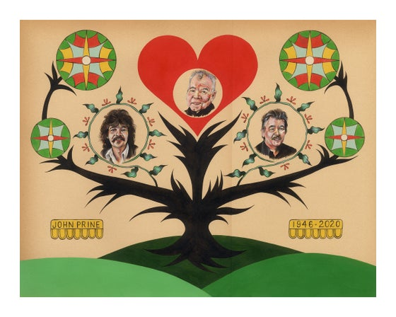 Image of JOHN PRINE TREE PRINT