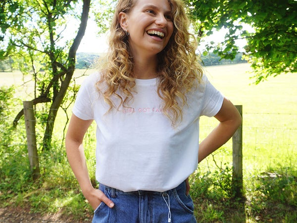 Image of Embroidered White Tee