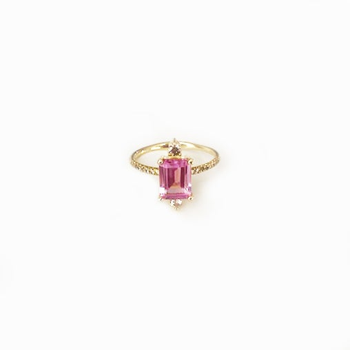 Image of Sparkling Pink Topaz Ring