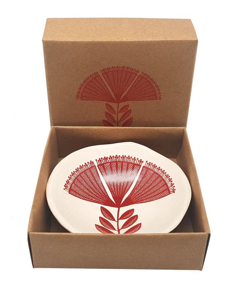 Jo Luping Design -Red Pohutukawa Porcelain Bowl