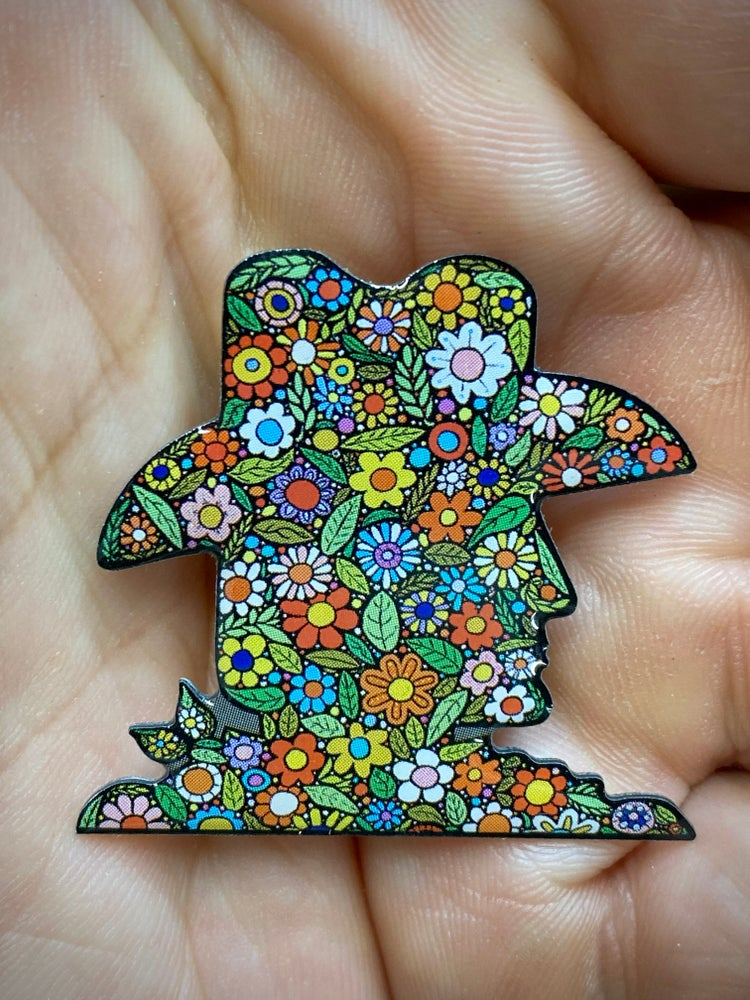 "Image of ""The First Cowboy to Ever Get Stoned with the Hippies"" Enamel Pin"