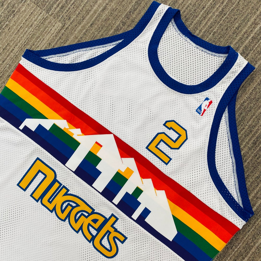 Image of Alex English Denver Nuggets Authentic Mitchell & Ness Jersey