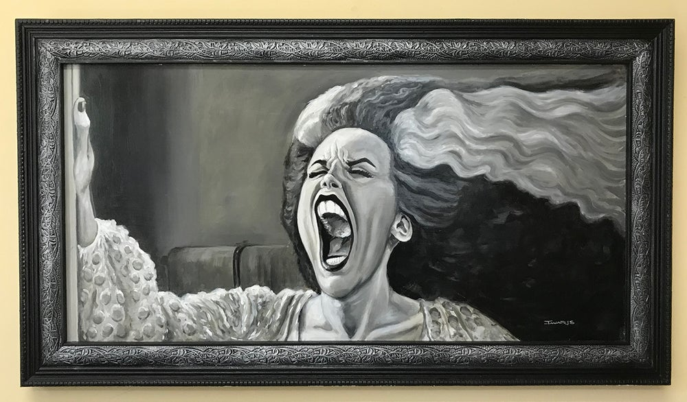 "Image of ""Hissssss!"" Original Painting (inspired by ""Young Frankenstein"")"