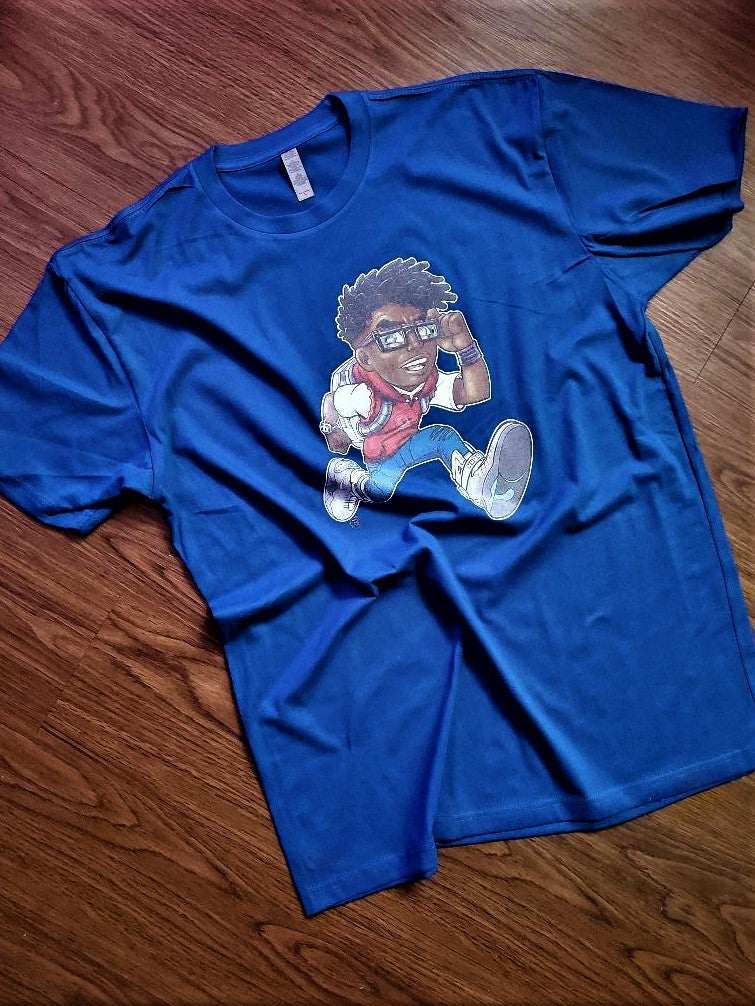 Image of Inzzo's Shed Running Enzo Tee (Enzo Blue)