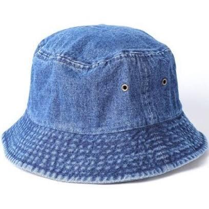 Image of Denim Bucket Hat (Dark)