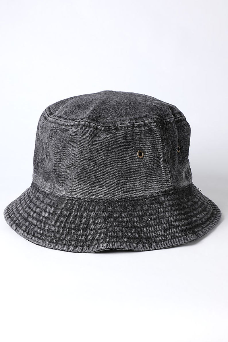Image of Denim Bucket Hat (Black)