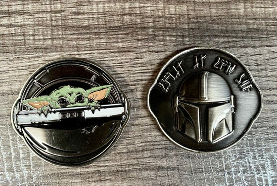 Image of The Child & The Mandolorian Challenge Coin  INSTOCK