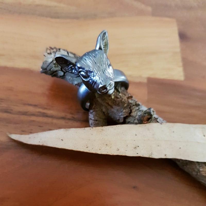 Image of Deer Ring ~ Matte Antique Finish