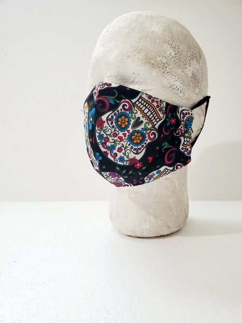 Image of Calavera Fitted Face Mask