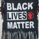 Image 3 of Black Lives Matter Golden Beaded Cowrie Upcycled Statement T-Shirt