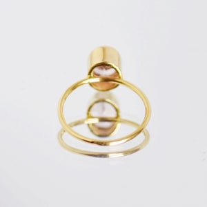 Image of Natural Pink Spinel 14k gold ring