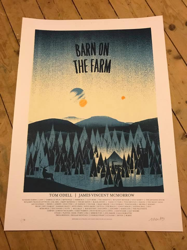 Image of Barn on the Farm 2017 Screen print Poster.