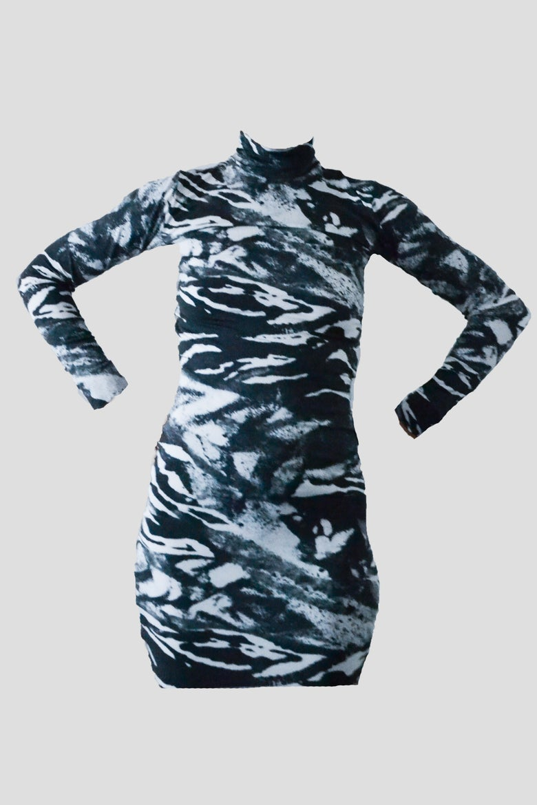 Image of zebra sexy dress