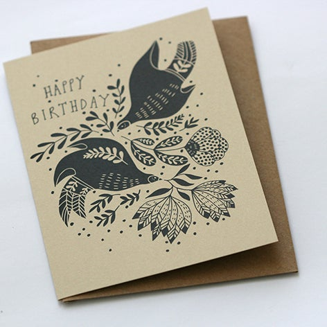 Image of Happy Birthday Birds - Greeting Card