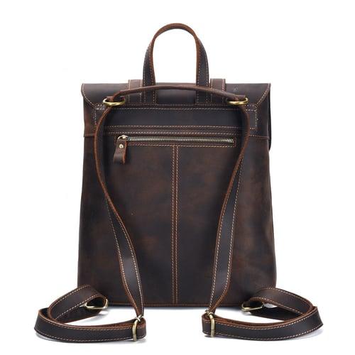 Image of Handmade Genuine Leather Backpack Travel Men Backpack 8043