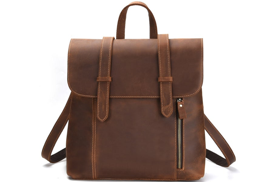 Image of Handmade Genuine Leather Backpack Travel Men Backpack 8043