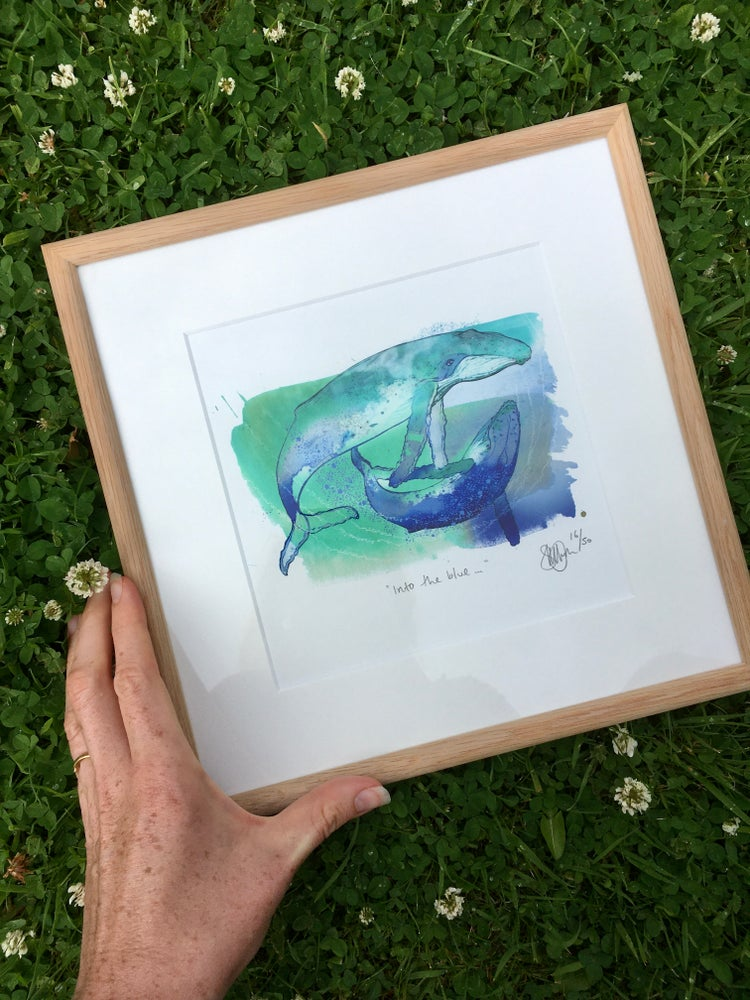 Image of Into the blue... Framed print