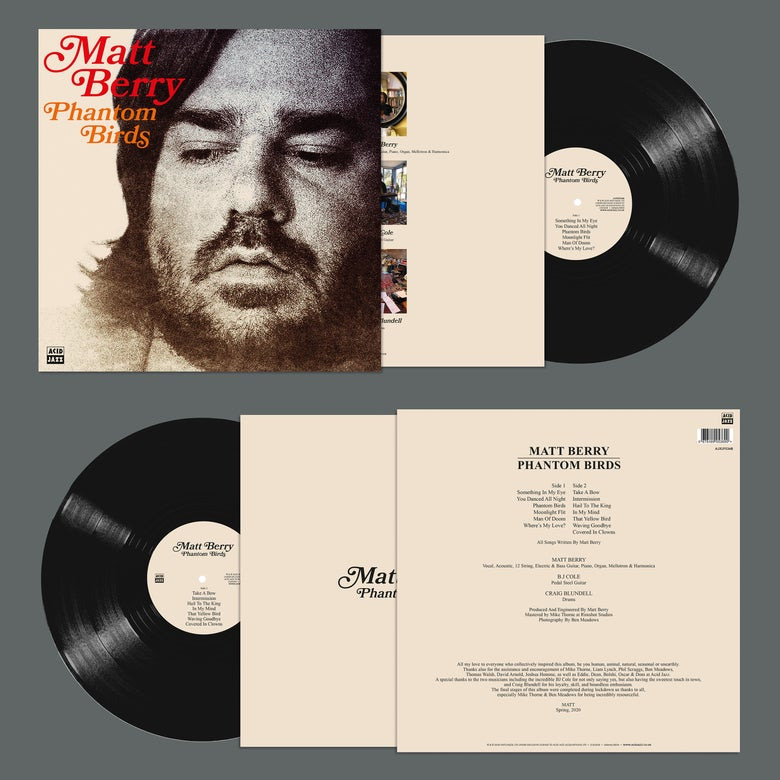 Image of Matt Berry - Phantom Birds (Signed Standard Black LP)