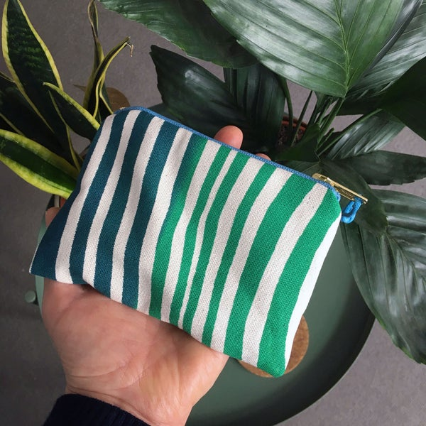 Image of Ripple print handy purse  - green