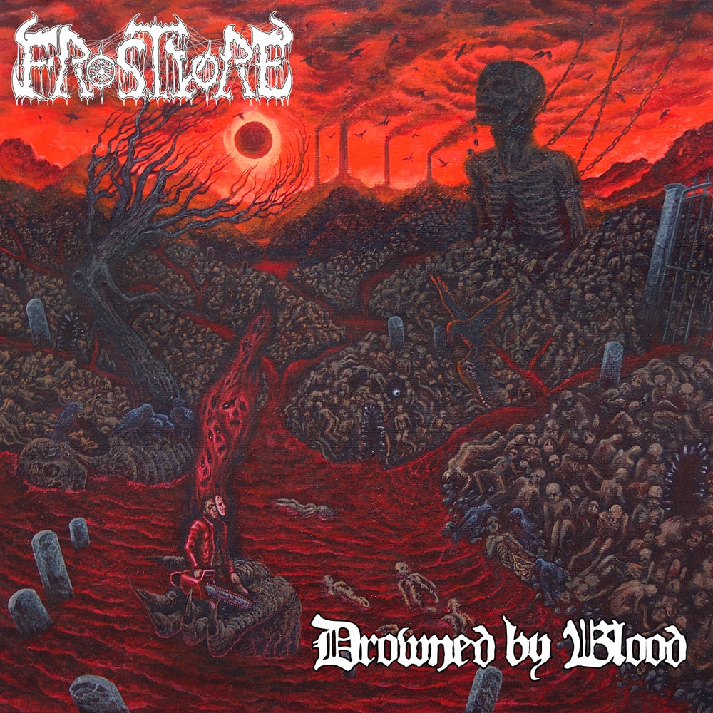 Image of Frostvore • Drowned by Blood (Transparent Blood Red | Black Splatter Vinyl)