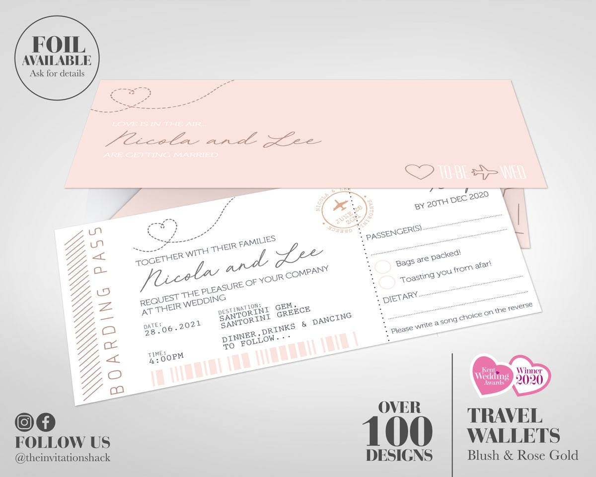 Blush & Rose Gold Travel Wallet