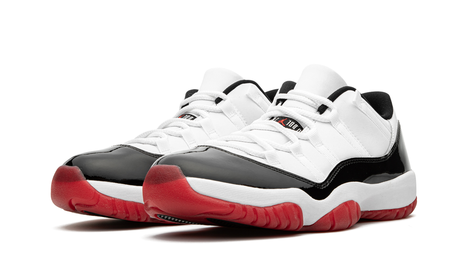 "Image of Nike Retro Air Jordan 11 Low ""Concord Bred"" Sz 9"